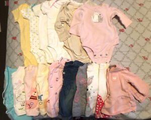 Baby girl cloth 0-3 Month 36 pieces