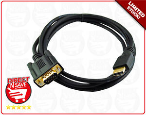VGA to HDMI Cable 15pin Male to Male  PC, TV, LCD, Monitor, Laptop. 1920x1080p