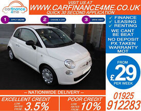 2013 FIAT 500 1.2 POP GOOD / BAD CREDIT CAR FINANCE FROM 29 P/WK