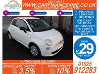 2013 FIAT 500 1.2 POP GOOD / BAD CREDIT CAR FINANCE FROM 29 P/WK