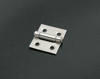 Stainless Steel Mini Hinge - Small Decorative Jewelry Cigar Box Hinges - HG015