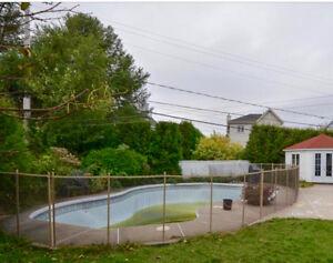 Clôture piscine creusée