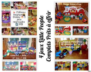 Little People | 4 jeux organisés | Prêts | à offrir