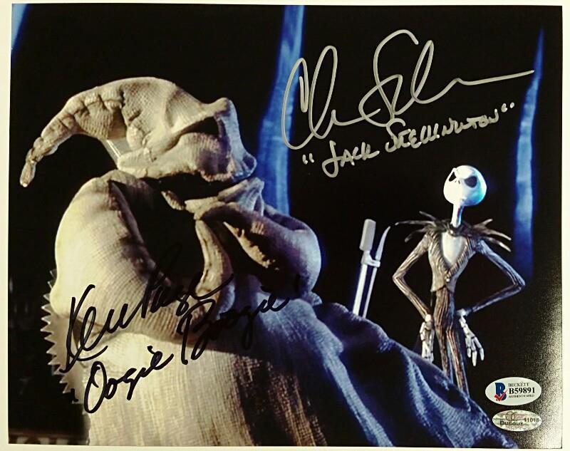 Chris Sarandon / Ken Page Signed Nightmare Before Christmas 8x10 Photo Bas Coa
