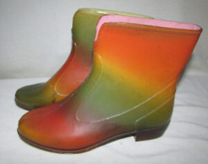 SARRAIZIENNE Rainbow Ankle Rain Boots - Vintage - Size 6.5 Gatineau Ottawa / Gatineau Area image 7