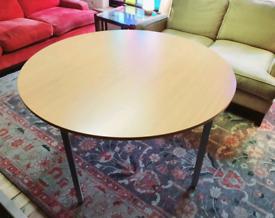 Beech circular table