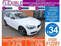 2013 BMW 116i 1.6 SPORT GOOD / BAD CREDIT CAR FINANCE AVAILABLE