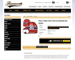 Carey Price Signed Jersey Replica Canadiens Red Reebok