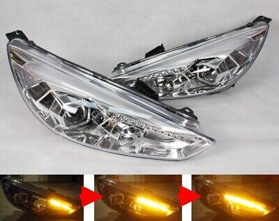 Scheinwerfer links für in Schwarz Ford Focus MK2 11//04-2//08 H1 H7 Halogen LWR