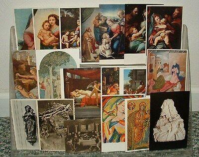 37 RELIGIOUS POSTCARDS & CARDS LOT Jesus, Madonna CHRYSLER ART MUSEUM