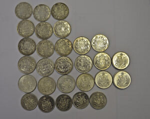 Set of 28 Rare 50 Cent Canadian Coins for Sale