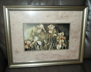 FRAMED & MATTED GOLDEN IRIS PRINT