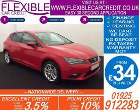 2013 SEAT LEON 1.2 TSI SE GOOD / BAD CREDIT CAR FINANCE FROM 34 P/WK