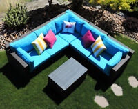 Outdoor Corner Patio Wicker Sectional Sofa ! FREE DELIVERY