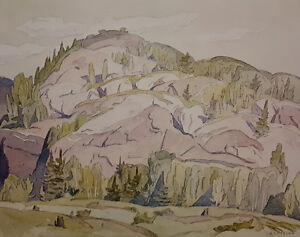 """A.J. Casson """"Hills at McGarry Flats"""" Litho - Appraised at $500"""