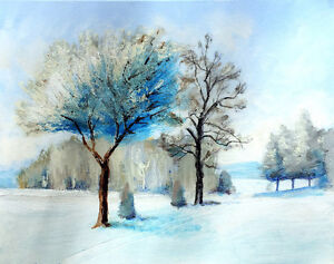 """""""Frosted Nordic Trail"""" original landscape painting"""