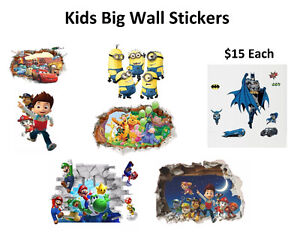 Kids Big Wall Stickers (6 Different Stickers To Choose)