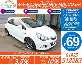 2014 VAUXHALL CORSA 1.6 VXR NURBURGRING GOOD / BAD CREDIT CAR FINANCE FROM 69 PW