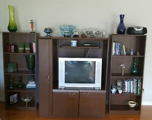 TV Stand and 2 book shelves