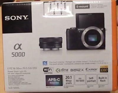 Sony Alpha a5000 Mirrorless Digital Camera with 16-50mm Lens (Black) - Brand New
