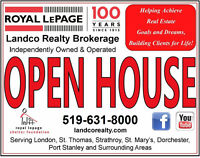 OPEN HOUSES in St Thomas & Port Stanley!