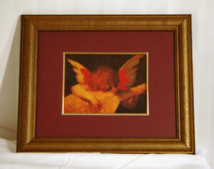 """Framed print of Rosso Fiorentino's """"Musical Angel"""""""
