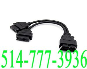 OBD2 Y Splitter Cable Male to Dual Female