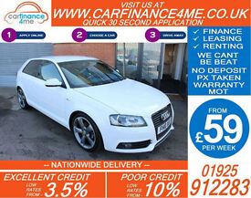 2010 AUDI A3 2.0 TDI BLACK EDITION GOOD / BAD CREDIT CAR FINANCE FROM 59 P/WK