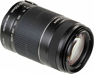 Lentille Zoom Canon EF-S 55-250mm Image Stabilizer IS II