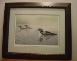 Limited Edition Signed/Numbered Loon Family Art Print
