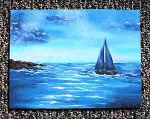 Original Seascape painting by Faria Firoz