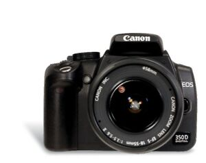 Canon EOS 350D including wide angle lense - buy today save 20%