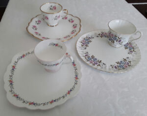 VINTAGE SNACK PLATES AND CUPS