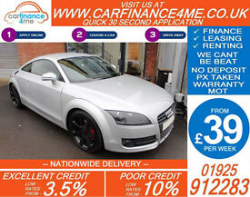 2007 AUDI TT COUPE 2.0 T FSI GOOD / BAD CREDIT CAR FINANCE FROM 39 P/WK