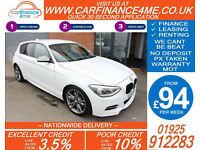 2013 BMW M135i 3.0 SPORT GOOD / BAD CREDIT CAR FINANCE FROM 94 P/WK