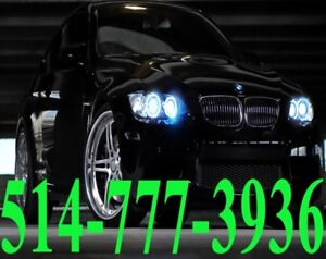 BMW KIT HID XENON CONVERSION CAR HEADLIGHTS PHARES INSTALLATION