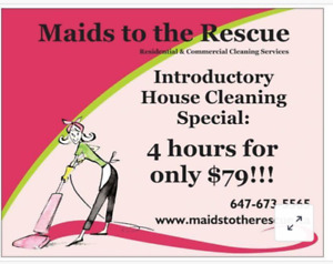 4 hrs for only $79!!! Great House Cleaning Special!