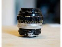 Nikon Nikkor-H 85mm f1.8 Manual Focus Prime Lens