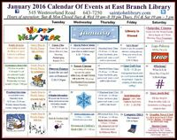 Upcoming events at The East Branch Public Library