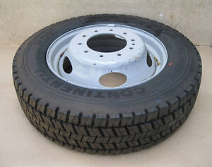 Continental 225/70/19.5 truck tires, rims, set of 6 new takeoffs
