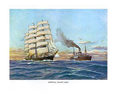Hilfskreuzer Seeadler Segelschiffe jagend Aufbringung DEUTSCHE FLOTTE STÖWER 63