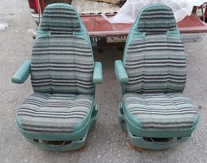 78 & Newer Dodge Van or RV Seats Green