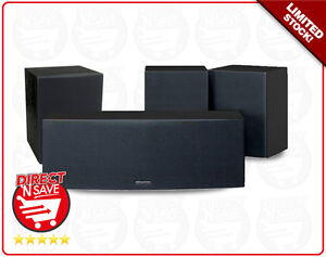 Kenwood CRS-177EXB Centre & Surround Speakers 100W for Home Theatre Hifi System