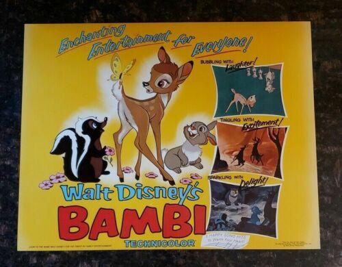Bambi Original Lobby Card R75 Walt Disney Productions Title Card Thumper Flower