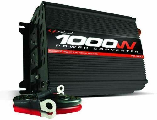 SCHUMACHER PC-1000 Power Converter Inverter 2-120VAC Outlets + 1 USB New In Box
