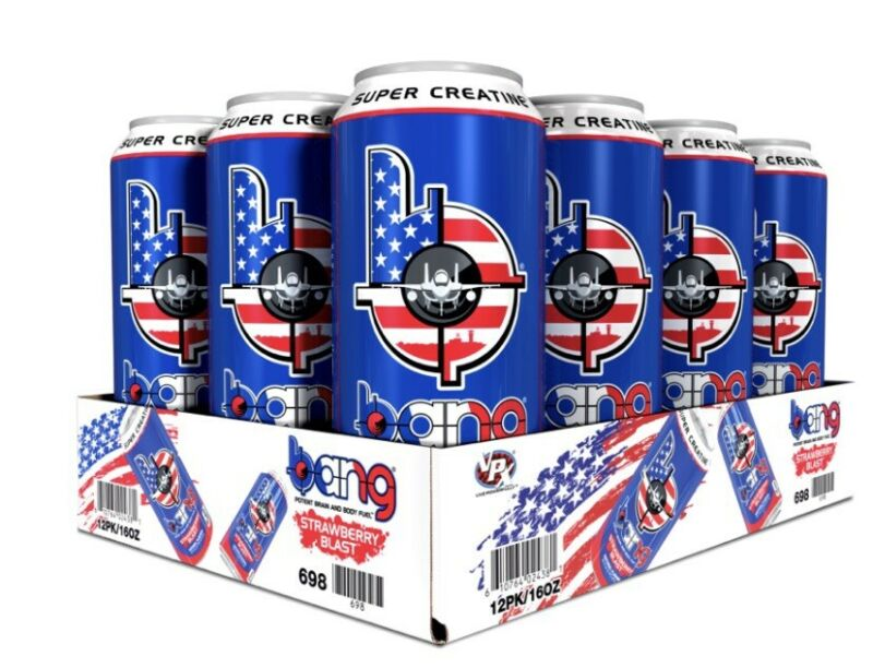 Bang Energy Drinks Military Edition - Strawberry Blast - 12 Pack