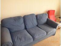 3 Seat Blue Sofa