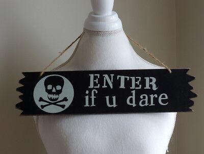 Halloween Enter Sign (