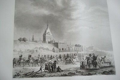 NAPOLEON ARMEE FRANCAISE DANTZIG GRAVURE 1838 VERSAILLES R1128 IN FOLIO