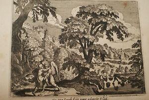 """GRAVURE SUR CUIVRE RECONCILIATION ESAU JACOB-BIBLE 1670 LEMAISTRE DE SACY (B21) - France - Commentaires du vendeur : """"voir détail de l'annonce"""" - France"""